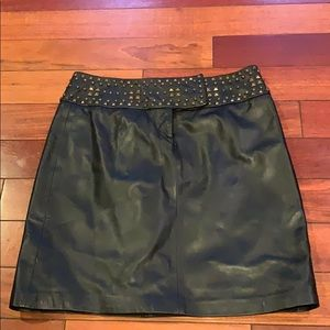 Cache black leather skirt size 2